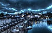 大人のための1000個キッズブリッジ、反射、サンタレン、ポルトガル、城の楽しさとより近いパズルキッズシニアファミリーへのギフト