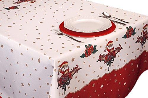 ExclusivoCIR Manteles Joyeaux Noel Navidad Pascua Estampados Antimanchas Colores Primaverales Decoracion Hogar (200 x 150 cm)
