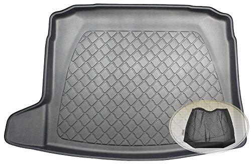 ZentimeX Z3291757 Gummierte Kofferraumwanne fahrzeugspezifisch + Klett-Organizer (Laderaumwanne, Kofferraummatte)