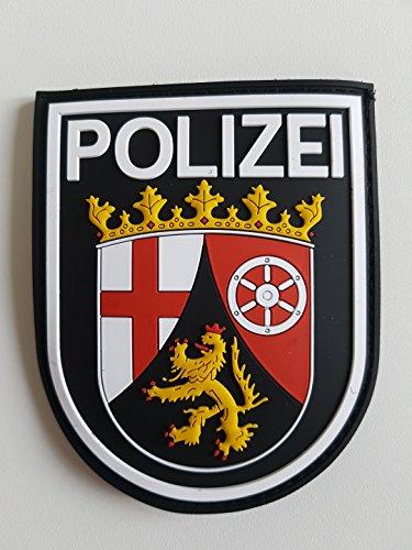 ATG Ärmelabzeichen Polizei Rheinland-Pfalz 3 D Rubber Patch (Farbig)
