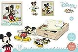 ColorBaby Disney - Woomax-Disney Puzzle Madera Trajes 19 pzas-12.5x14 cm-Mickey (48723)