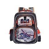 防水トラベルバックパック| 袋の削減ボーイのアニメ漫画の飛行機のスクールバッグのための主要な学生オックスフォード布バックパック防水透湿性負担、航空機オレンジ