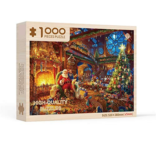Christmas Santa 1000 Piece Jigsa Puzzle Challenge Yourself with Puzzles,2020 Christmas Tree Ornaments,Usdian-2020-491ZZ