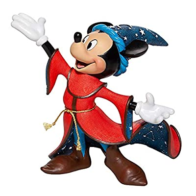 Enesco Disney Showcase Couture de Force Fantasia 80th Anniversary Sorcerer's Apprentice Mickey Mouse Figurine, 8.74 Inch, Multicolor