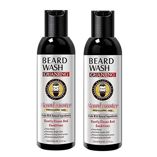 Kit Cuidado Barba Hombre, Barba Champú & Barba Acondicionador, Ingredientes Naturales, con un Exclusivo Perfume y Efecto de Cuidado, el Mejor Regalo para Hombres Novio Marido Papá(2 x 100 ml)