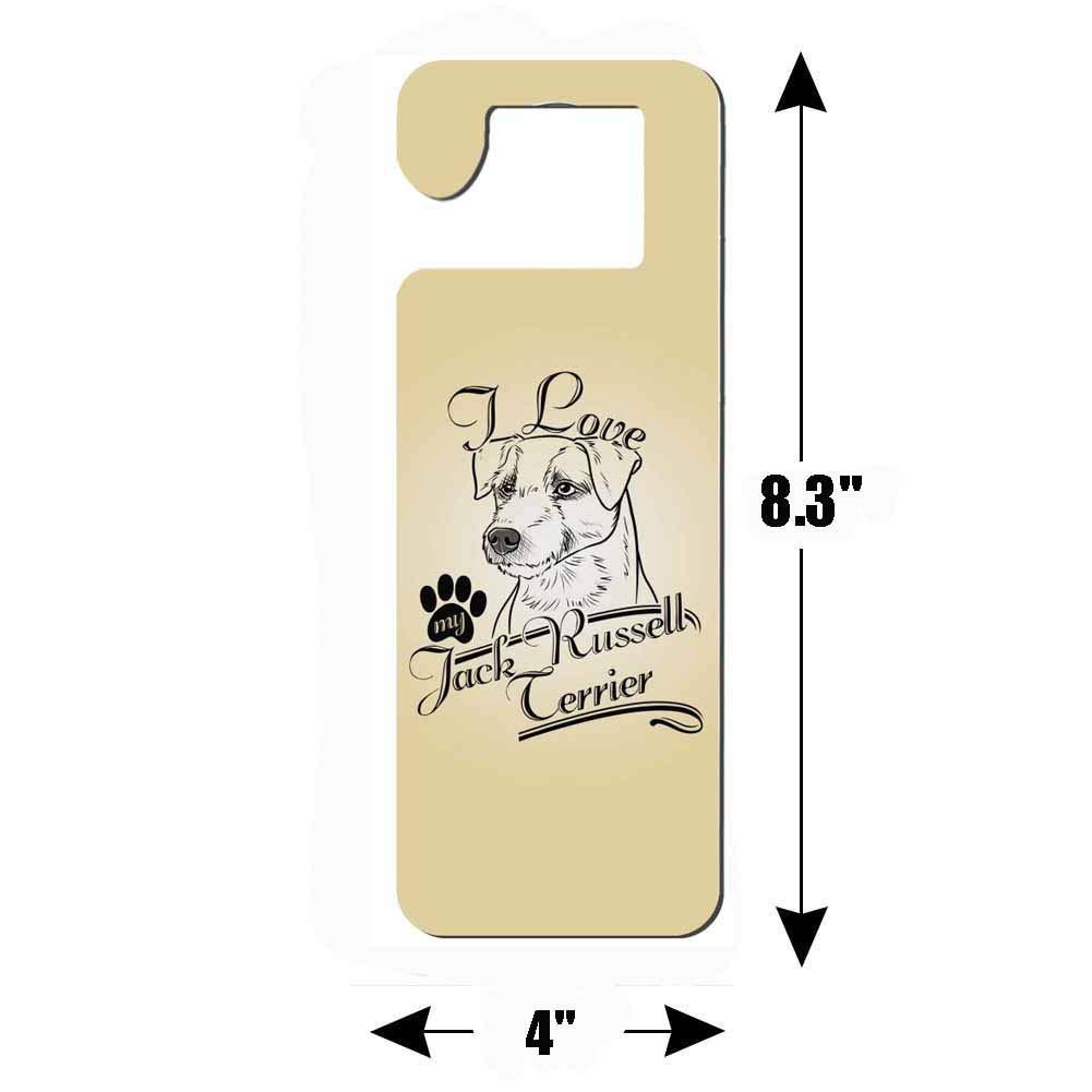 Mr Kennys& Lucky - Percha para Puerta de 7 Puertas, 2 Piezas, diseño con Texto en inglés I Love My Jack Russell Terrier: Amazon.es: Hogar