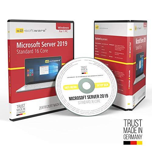 Microsoft® Server 2019 Standard 16Core DVD mit original Lizenz. Papiere & Lizenzunterlagen von S2-Software GmbH & Co. KG