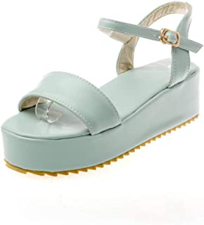 BalaMasa Womens ASL06881 Pu Platform Heels