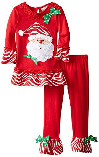 MMBeauty Girls 2pcs Long Pajamas Sleepwear Set Christmas Homewear Red