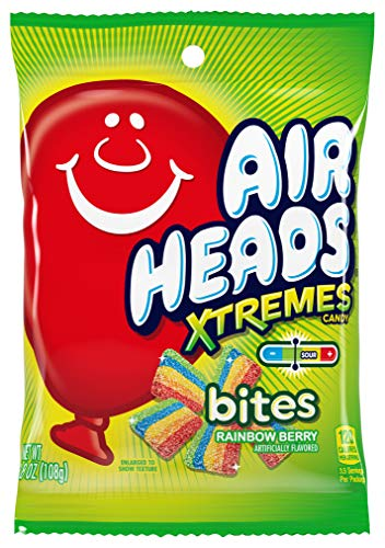 Airheads Xtremes Bites Sweetly Sour Candy, Rainbow Berry, Non Melting, Bulk Party Bag, 3.8 oz (Pack of 12)