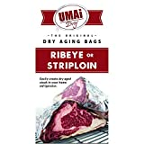 UMAi Dry Breathable Membrane Bags for Dry Aging Steak | Ribeye Striploin Sized | Dry Age Bags for Meat | Easy At Home Dry Aging in Your Refrigerator | Includes 3 Bags