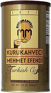 Kurukahveci Mehmet Efendi Turkish Coffee,17.6 Ounce (traditional 1 bank 17.6 Ounce)
