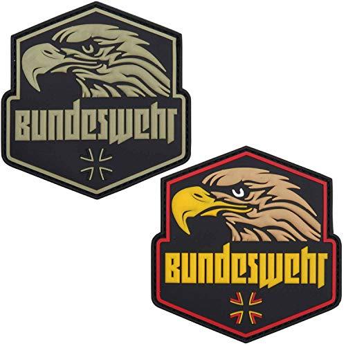 Van Os Emblem 3D PVC Bundeswehr mit Adlerkopf grün/schw.#20075