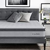 Full Size Mattress, Coolvie 10 Inch Hybrid Mattress with Individually Pocket Coils and Dual Layer Cool Comfy Memory Foam, Hybrid Innerspring Mattress in a Box, Cushioning Euro Top Design, Medium Firm