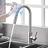 Qomolangma Touch Sensor Kitchen Faucets with Pull Down...