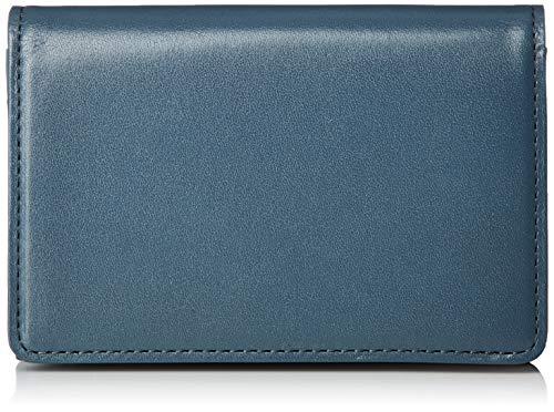[マーガレット・ハウエル アイデア] 名刺入れ 【ピルモント】牛革 ロゴ入りカードポケット MHLW0AM1(専用BOX入り) ブルー