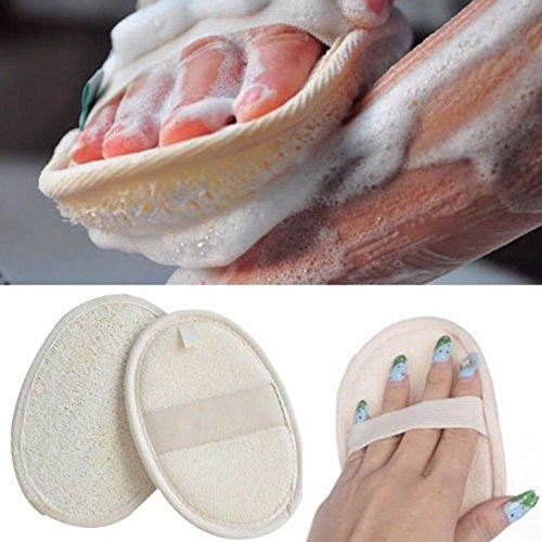 Almohadillas de lavado de Loofah, exfoliantes de esponja de lufa natural para ducha, baño, cuerpo de espalda, limpiador para hombres, mujeres, cuidado de la piel, lavado