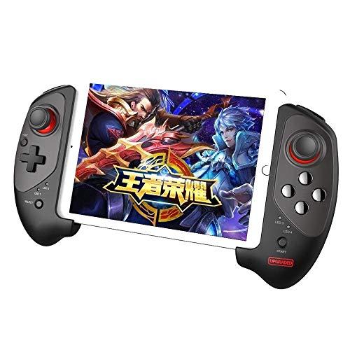 Manette de Jeu Bluetooth4.0 sans Fil Réglable Gamepad Plug-Jeu Contrôleur De Jeu for iOS Android Phone Ipad Joystick (Color : Black, Size : One Size)