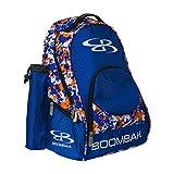 Boombah Tyro Baseball / Softball Bat Backpack - 20' x 15' x 10' - Camo Royal Blue/Orange - Holds 2 Bats up to Barrel Size of 2-5/8'