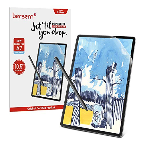 Paperfeel Screen Protector for Samsung Galaxy Tab A7 Screen Protector 10.5 inch, Paperfeel Tab A7 Matte Screen Protector Anti Glare with Easy Installation Kit Write and Draw Like on Paper