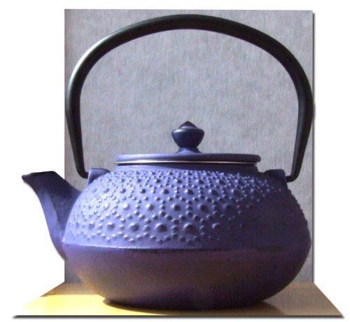 Ghisa Daisy Viola Tetsubin teiera bollitore 0,6 litro in stile giapponese