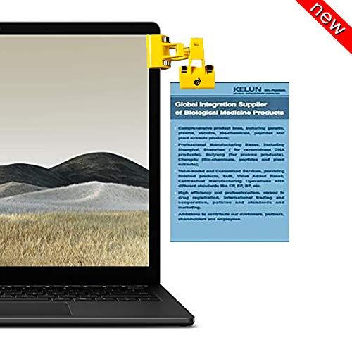 Office Copyholder Document Hanging Clip Over Computer Laptop Monitor Workstation Paper Memo Display Holder Desk Phone Stand Note Reading Typing Holder