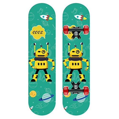 Komplette Skateboards Für Anfänger Standard Skateboard 7 Lagen Ahornholz Double Kick Concave Skate Board Für Jungen Mädchen Kinder Jugendliche Erwachsene 24 'X 6'(E)