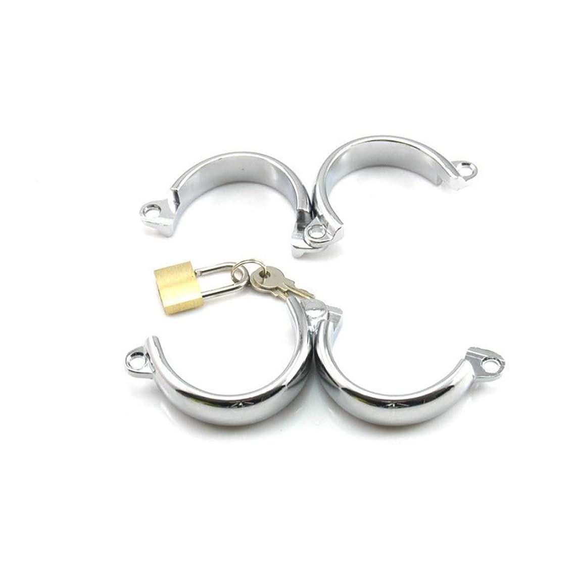 追い払う彫刻鍔CXQ カップルのための楽しいシンプルな銅の南京錠の開閉手錠 Yoga mat