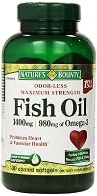 Nature's Bounty Maximum Strength Fish Oil 1,400 mg - 980 mg Omega-3-130 Enteric Coated Liquid Softgels Single & Multi Packs