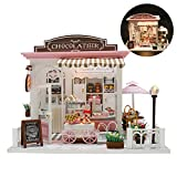 lingzhuo-shop Puppenhaus Bausatz ,DIY Puppenhaus Miniatur, Haus Holz Selber Bauen Haus Zum Basteln...