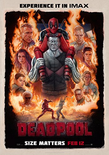 """WMG Deadpool - Movie Poster (24"""" x 36"""") Glossy Finish (Thick, 8mil): Ryan Reynolds, Morena Baccarin"""