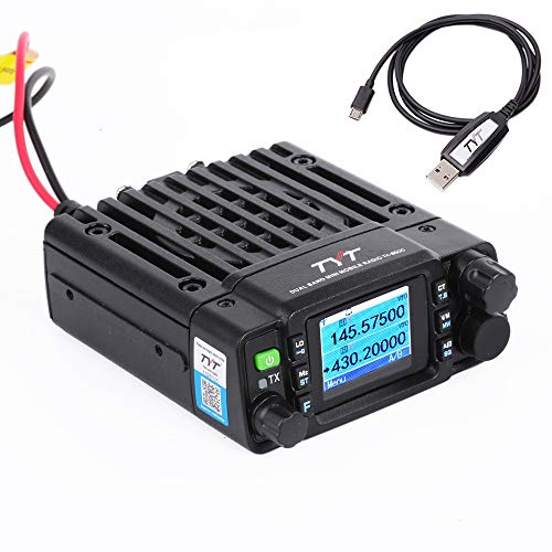 TYT TH-8600 Mini 25 Watt Dual Band Base, IP67 Waterproof Radio VHF: 136-174mhz (2m) UHF:400-480mhz (70cm) Amateur Car Mobile Transceiver (HAM) Free Cable