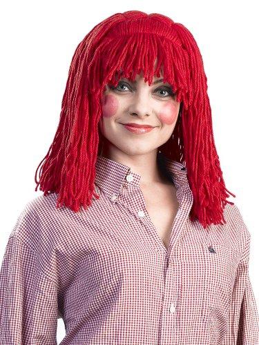 Enigma Wigs Women's Raggedy Cleo, Red, One Size