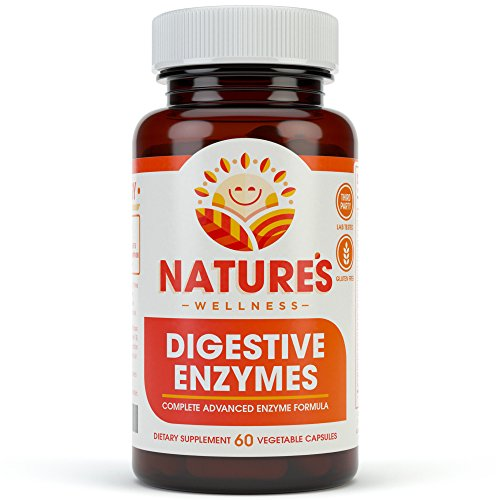 Digestive Enzymes Complete - Advanced Multi Enzyme Supplement for Better Digestion & Absorption. Help Gas Relief, Discomfort, Bloating, IBS, Gluten & Lactose Intolerance