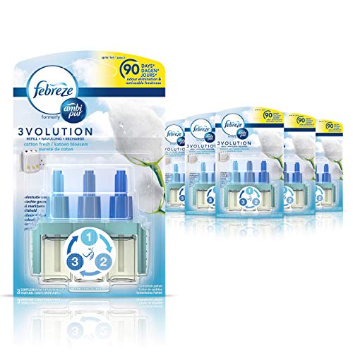 Ambi Pur 3Volution luchtverfrisser, geur: Cotton Fresh, navulverpakking, elk 20 ml, 6 stuks