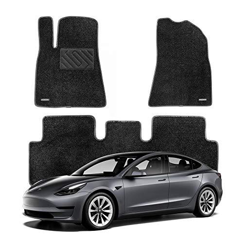 WENNEBIRD Tesla Model 3 Floor Mats, Superior Carpet Floor Mats - Black