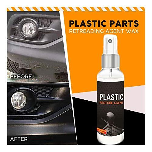 Agente de mantenimiento para automóviles interior y plástico renovado de pasta de revestimiento, agente de reparación de plástico, espray para cera de coche, 100 ml