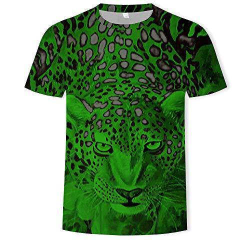 Summer 3D Three-Dimensional Men's Fashion Round Neck Short Sleeve T-Shirt