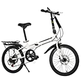 GHGJU Bicicletas De Ocio 20-Inch Shift Plegable Bicicleta Adulto Corporativo Regalo Coche Bicicleta Cross Country...