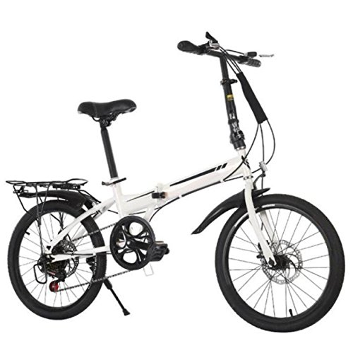 GHGJU Bicicletas De Ocio 20-Inch Shift Plegable Bicicleta Adulto Corporativo Regalo Coche Bicicleta Cross Country Bike,White-20in