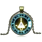 calhepco Drama Gravity Falls Light Mysteries Bill Cipher Wheel Steampunk Pendant Necklace Fashion Jewelry