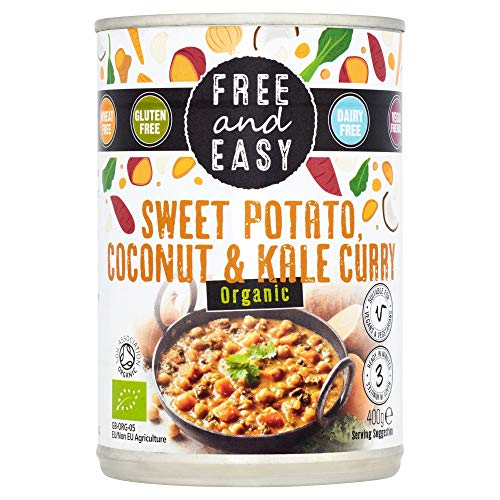 Free And Easy Organic Sweet Potato, Coconut & Kale Curry 400g