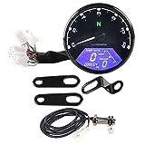 Contachilometri contagiri digitale per tachimetro digitale con retroilluminazione a LED per moto 12V Adatto a 12000 RPM