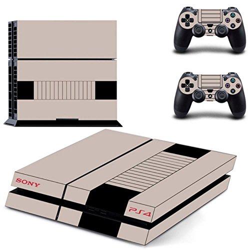 Sony PS4 Playstation 4 Skin Design Foils Pegatina Set - Retro NES Motivo