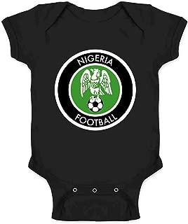 Nigeria Soccer National Team Retro Crest Infant Baby Boy Girl Bodysuit