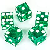 GAMELAND 19mm Casino Dice with Razor Edges and Matching Serial Numbers,Set of 5...