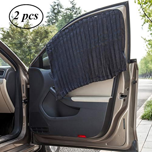 ZATOOTO Car Side Window Sun Shade - 4 PCS Black Magnetic Privacy Sunshades Window Curtain Keeps Cooler Screen for Baby Sleeping(Magnet Black-4 pcs)