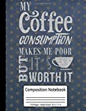 My Coffee Consumption Makes Me Poor But It's Worth It Fresh Coffee Composition Notebook 110 Pages Wide Ruled 8.5 x 11 in: Coffee Tasting Journal
