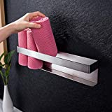 Ruicer Gästehandtuchhalter Selbstklebend Handtuchhalter Bad Ohne Bohren HandtuchregalEdelstahl Gästetuchhalter 40cm
