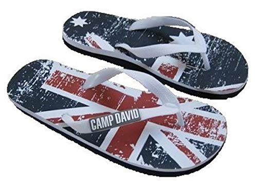 Camp David FLIP FLOPS Sauna Bade Latschen Schuhe Zehentrenner V- Sandalen (45, Opticwhite)